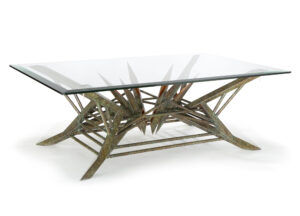 custom copper table - bolzano copper table art by Scott Yocco