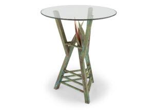 custom copper end table - mantua