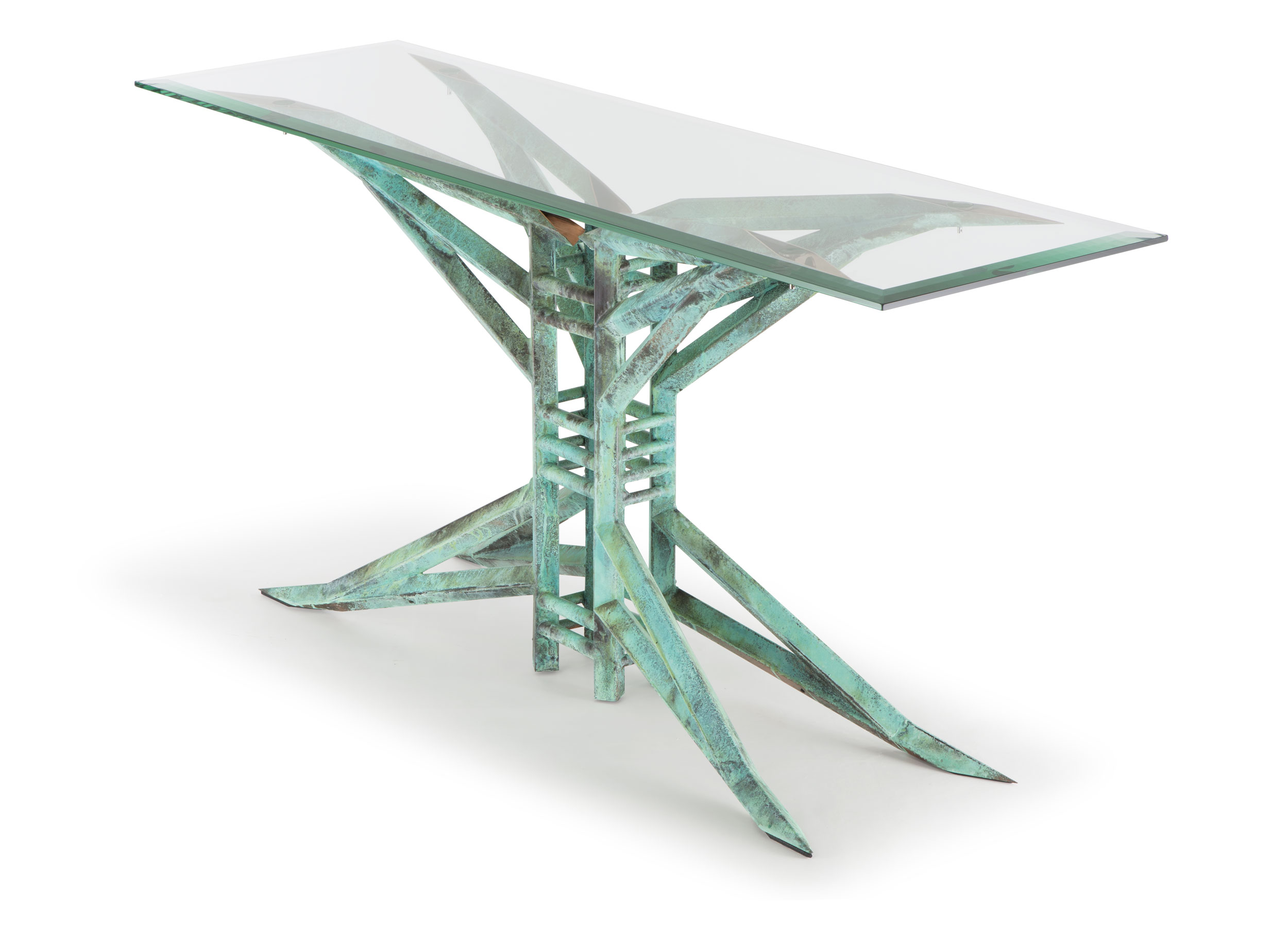 custom copper console table - palermo by Scott Yocco