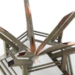 custom copper Ravenna coffee table detail view