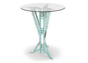 pub tables copper glass top