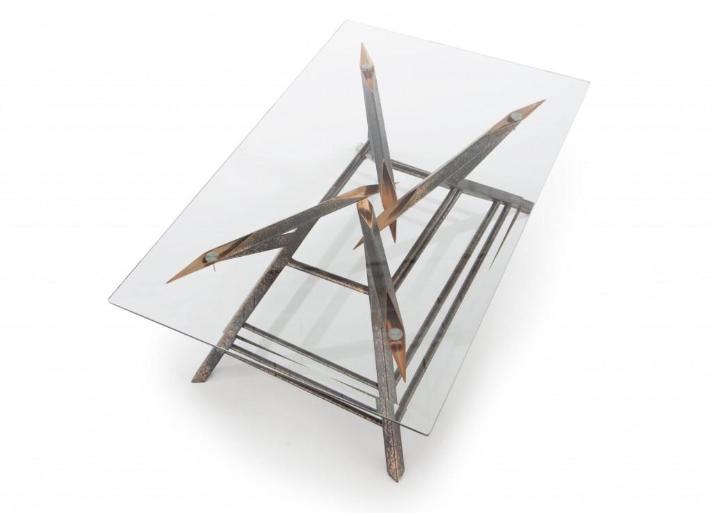 custom coffee table - coffee table custom copper - by Scott Yocco - Wisconsin