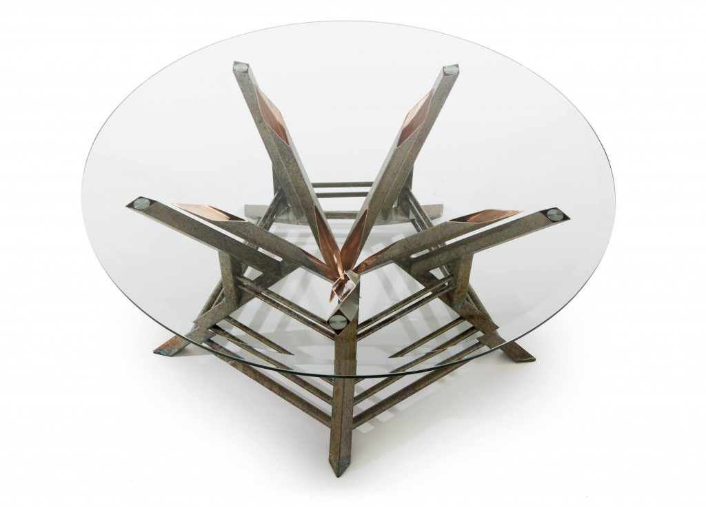 custom coffee table - copper tables by Scott Yocco