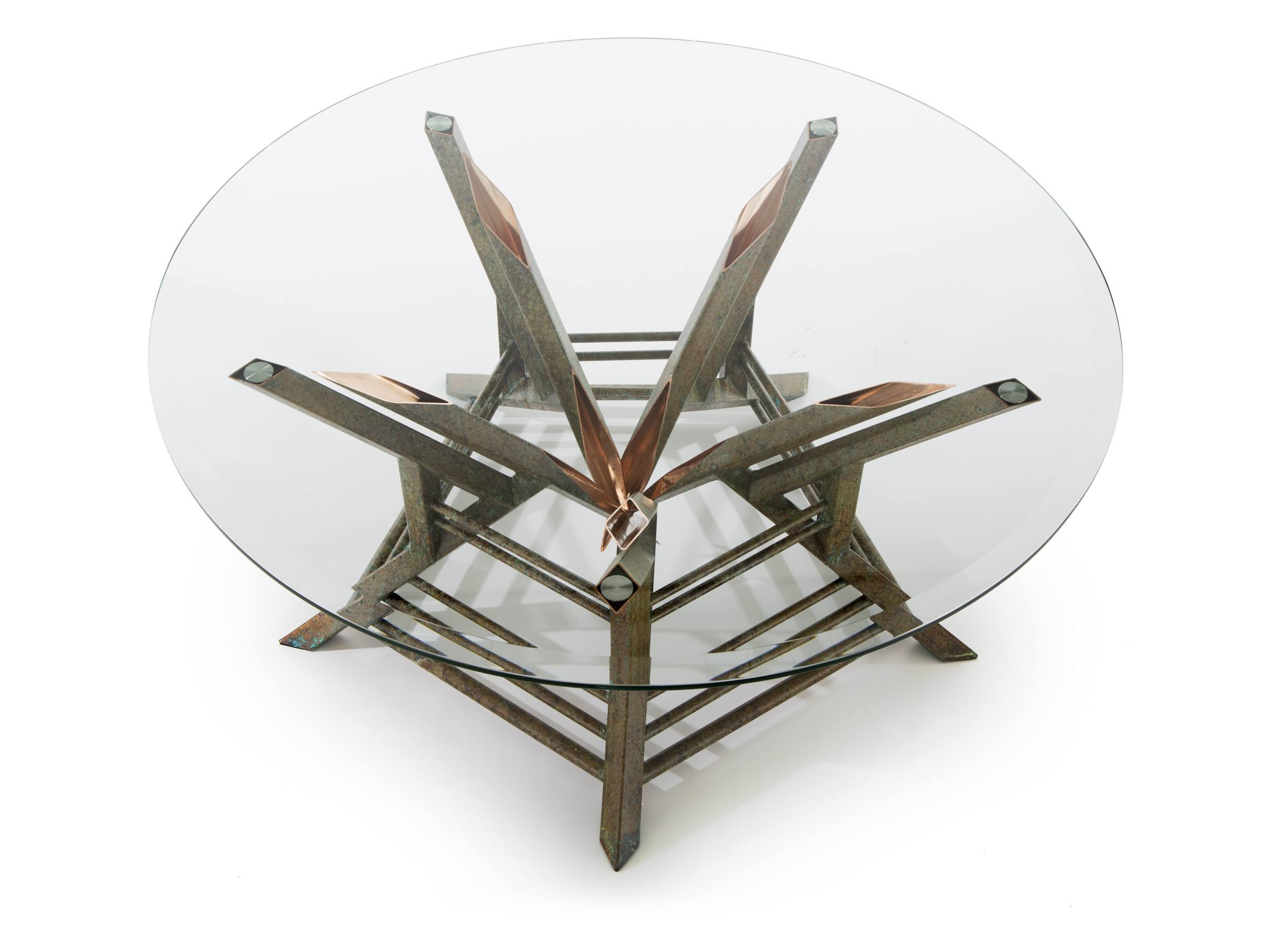 custom coffee table - copper tables by Scott Yocco