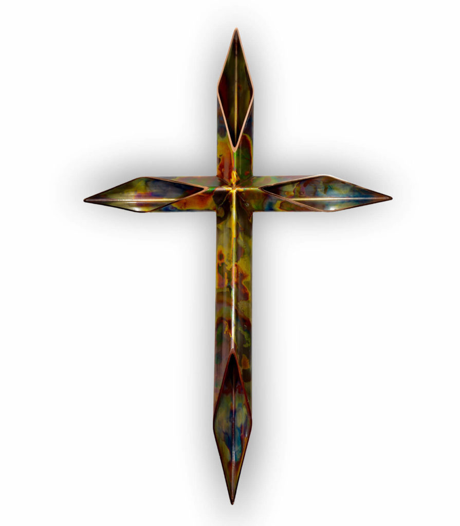 copper crosses - christianity symbol